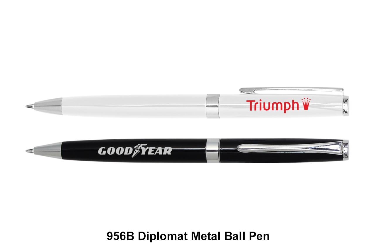 B diplomat metal ball pen black ink